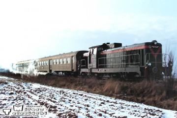 SP42-090 Kępno - Bukowa Śląska (tuż przed Bukową) - w dniu 19.02.1992