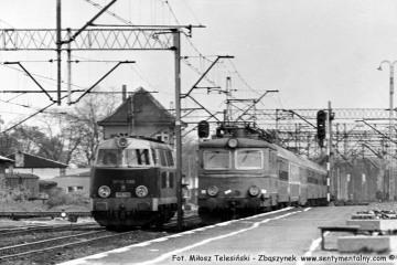 """Zbąszynek. SP45-095 i EP05-16 z """"Beroliną"""" w dniu 23.05.1987"""