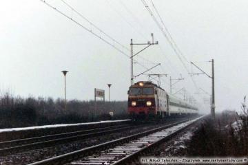 """EP09-021 z """"Varsowia"""", Plewiska 10.02.1994"""