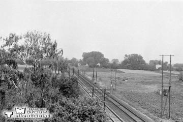Widok w stronę Kostrzyna podczas przejazdu do Myśliborza w dniu 22.09.1987.