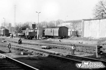 Gorzów Wlkp. w maju 1991. Zaplecze lokomotywowni.