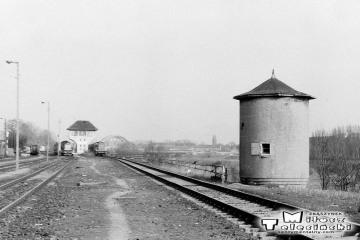 Gorzów Wlkp. w maju 1991. Wieżyczka strzelnicza od strony dworca towarowego.