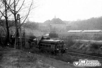 Jesień 1991 Osobowy Osobowy od strony Krzyża zbliża się do Gorzowa.