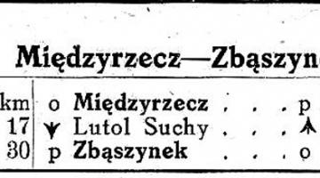 1945 Zaraz po wojnie ruch do Międzyrzecza był zamknięty.