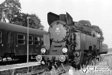 Wierzbno 03.10.1987. Tkt48-28 od pociągu specjalnego Zbąszynek - Międzyrzecz - Wierzbno - Międzychód - Wierzbno - Skwierzyna - Wierzbno - Międzyrzecz - Zbaszynek.