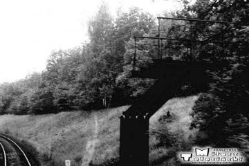 Wierzbno - Międzychód 03.10.1987. Za stacją Wierzbno, na drodze między Muchocinem a Gorzyckiem Starym, który leżał ok. 1,5 km w głąb Polski od granicy Polsko - Niemieckiej z 1919 roku