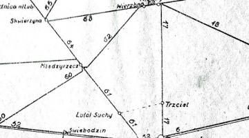 1945 Mapka z Wykazu Odległości Taryfowych.