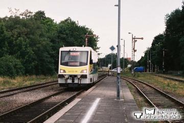 Skwierzyna w dniu 16.06.2008. Pociąg z Gorzowa Wlkp. w kierunku Zbąszynka.