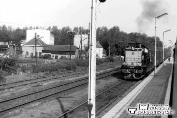 Skwierzyna 24.05.1991. SP32-094 ze składem Gorzów Wlkp. - Międzychód.