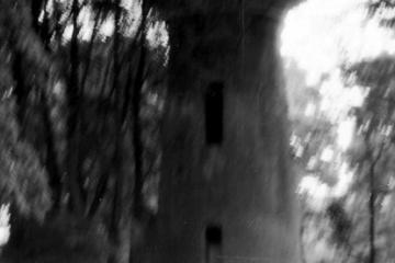 Lubniewice w dniu 05.08.1990. Nie czynna wieża ciśnień po kolei Sulęcin (Kniazin) - Rudnica (Gorzów Wlkp) w latach 1912 -45.