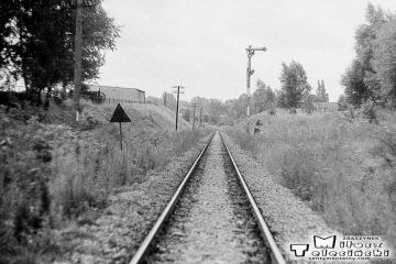 Sulęcin 08.09.1986. Semafory wjazdowe w stronę Międzyrzecza.
