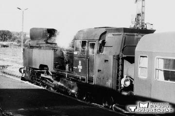 Sulęcin 08.09.1986. Tkt48-74 wraca do Rzepina z osobowym. Maszynistą tego pociągu był Pan Janusz Adamczak, pomocnikiem Pan Szajer..