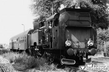 Tkt48-74 Na stacji Templewo. Maszynistą był Pan Jan Adamczak z Międzyrzecza (nie żyje). Pomocnikiem jest Pan Jan Szajer z Międzyrzecza.