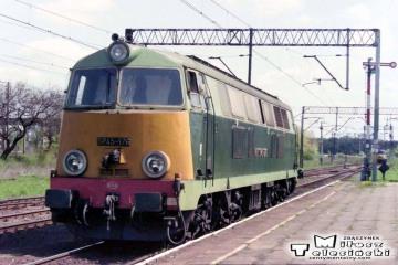 Rzepin 04.05.1992. SP45-175 od pośpiesznego - sypialnego z Frankfurtu/O do Warszawy - Moskwy.