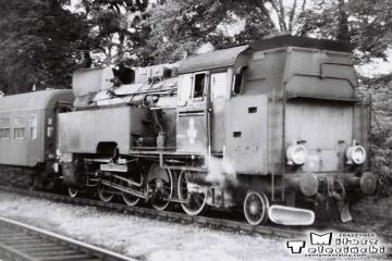 Rzepin w dniu 08.09.1986. Tkt48-74 do Sulęcina, maszynista Janusz Adamczak z Międzyrzecza.