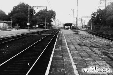 Rzepin w dniu 08.09.1986. Widok peronu drugiego od strony Zbąszynka.