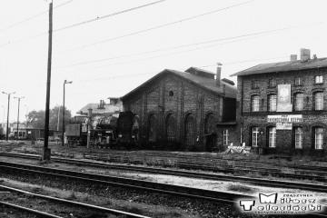 Lokomotywownia Rzepin w dniu 08.09.1986.
