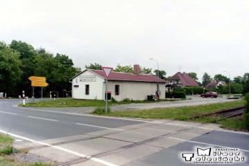 Horka w dniu 18.06.1999. Tor z Sanic (Przewozu), dalej Niemcy mają już zagrodzone.