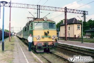 Sulechów. Maszynista z Poznania Rogasz Marek w dniu 11.05.1998.