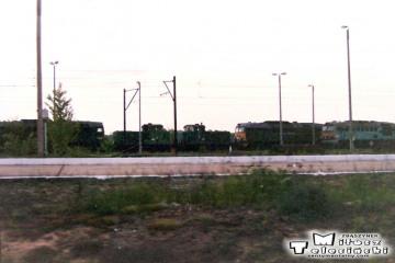 Czerwieńsk 17.05.1994. Mijamy lokomotywownię.