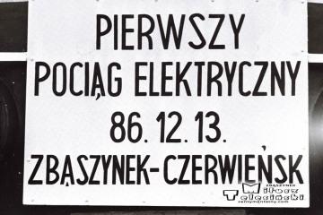 13.12.1986, dzień uruchomienia trakcji elektrycznej ze Zbąszynka do Czerwieńska.