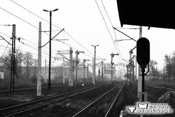 Sulechów w dniu 13.12.1986, dzień uruchomienia trakcji elektrycznej ze Zbąszynka do Czerwieńska.