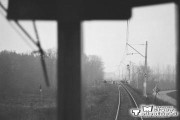 Wyjazd ze Zbąszynka w stronę Kręcka w dniu 13.12.1986. Pierwszy pociąg elektryczny do Czerwieńska.