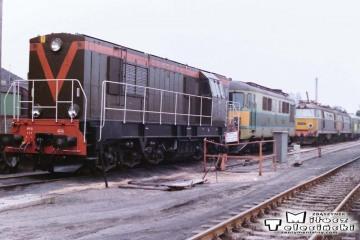 Leszno - lokomotywownia w dniu 08.03.1988. SM31-131.
