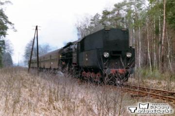 Na trasie Sulechów - Wolsztyn w dniu 08.03.1988