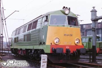 Leszno - lokomotywownia w dniu 08.03.1988