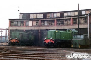 Leszno - lokomotywownia w dniu 08.03.1988. SM41-156.
