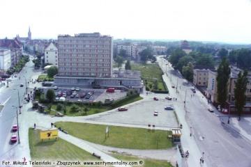 Olsztyn 19.06.1993 - widok z naszego pokoju 13.06.1998