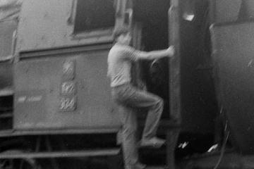 Namysłaki w dniu 28.05.1988. Obecny na przejeździe Arek Burdziuk.