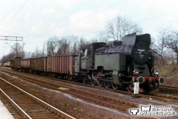 Ostrzeszów 12.03.1990. Tkt48-117 na manewrach.