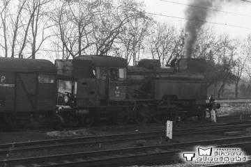 Ostrzeszów 15.11.1986. Tkt48-129 podczas manewrów.