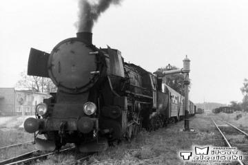 Grabów / Prosną w dniu 28.05.1988. Ty2-934 z ostatnim pociągiem pasażerskim.