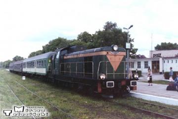 Pisz 21.06.1993. SP42 z osobowym Ełk - Olsztyn.