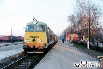 Suwałki. Pociąg do Trakiszek w dniu 23.02.1995.