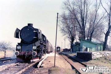 Trakiszki 05.04.1989. Przed odjazdem do Suwałk.