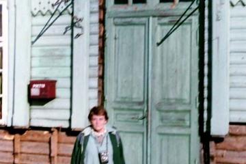 Trakiszki 22.09.1990. Na zdjęciu moja mama.