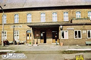 Skwierzyna 03.10.1987. Podczas zmiany kierunku pociągu specjalnego.