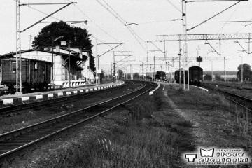 Toporów. W tle pociąg w kierunku Międzyrzecza 21.09.1986