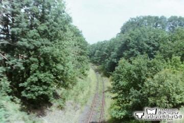Toporów 19.07.1993. Tor w kierunku Międzyrzecza.