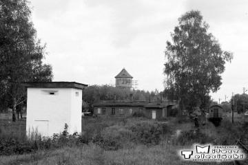 Gołdap w dniu 29.09.1990. Resztki lokomotywowni.