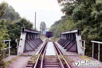 Węgorzewo 13.09.1990. Nie czynny tor do Gołdapi.