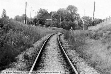 Sulęcin 08.09.1986. Widok od strony Międzyrzecza.
