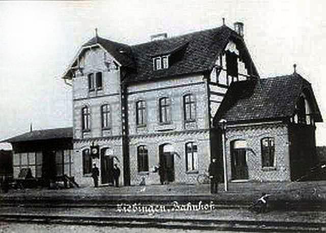 Dworzec w Cybince przed 1945