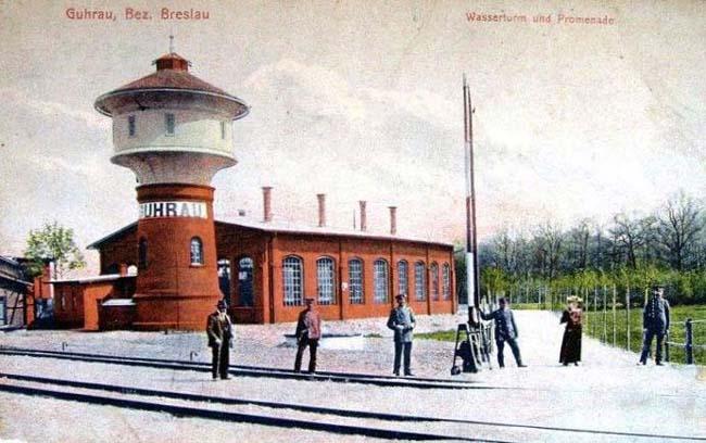 Parowozownia w 1918 roku.