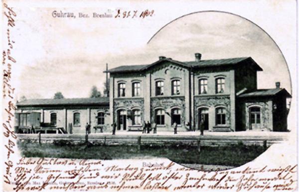 Dworzec w 1905 roku