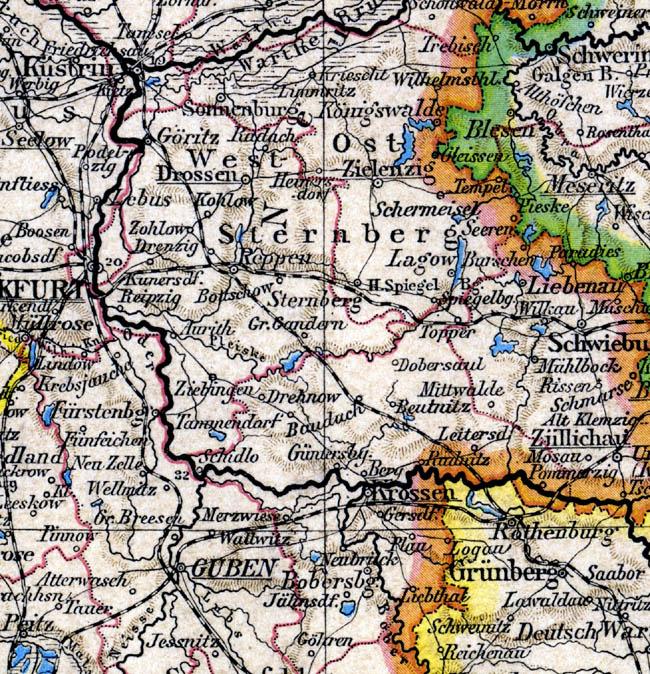 Mapka z roku 1890